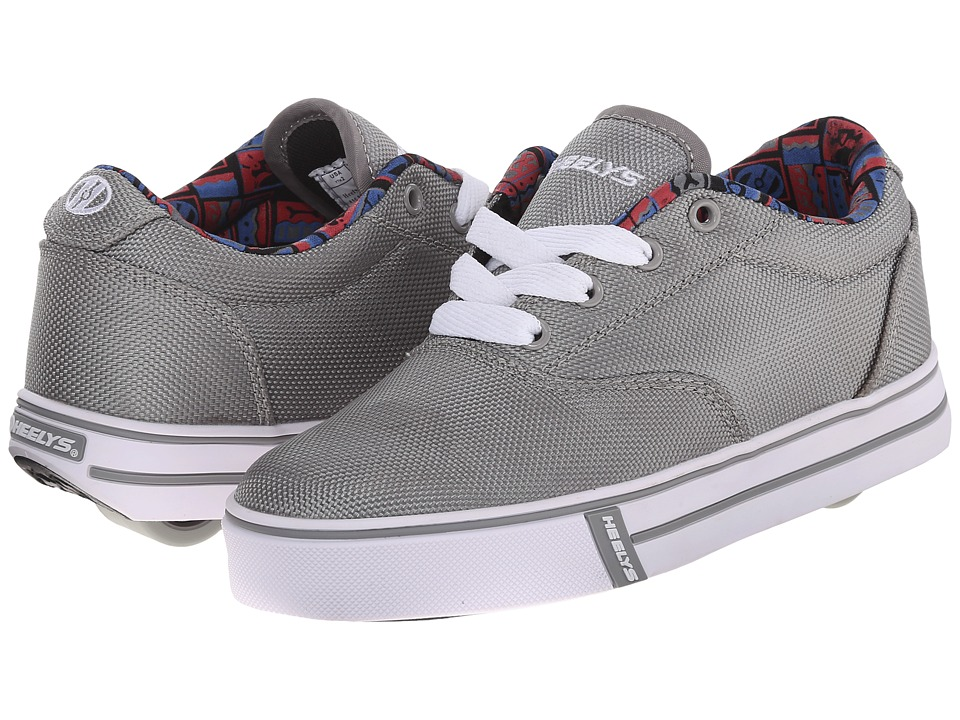 Heelys - Launch (Little Kid/Big Kid/Adult) (Grey/Graphic Lined) Boys Shoes