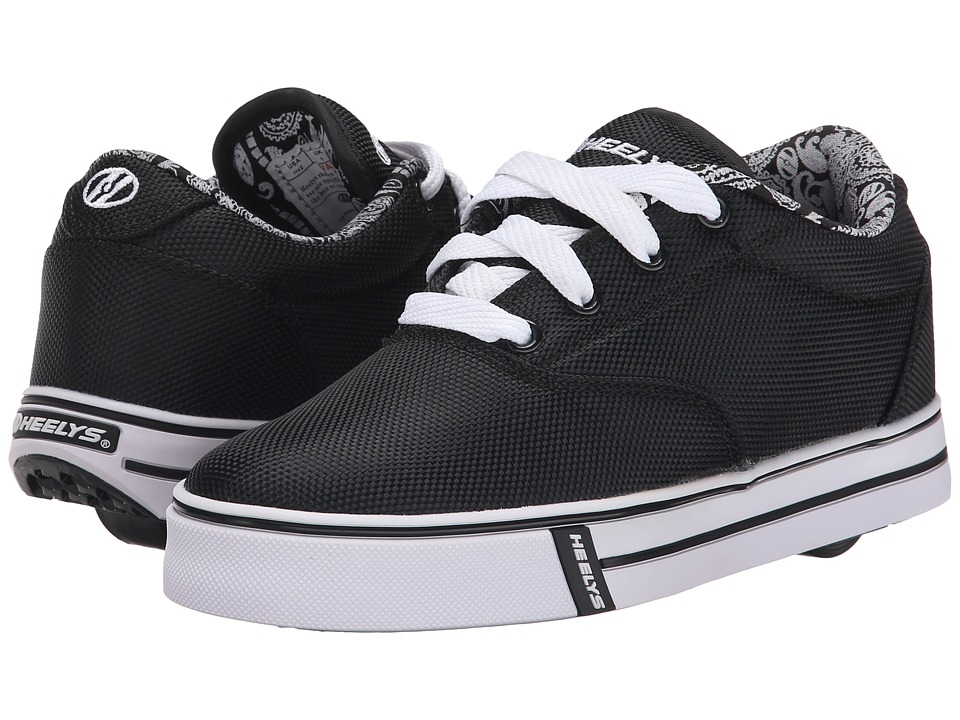 Heelys - Launch (Little Kid/Big Kid/Adult) (Black/Paisley Lined) Boys Shoes