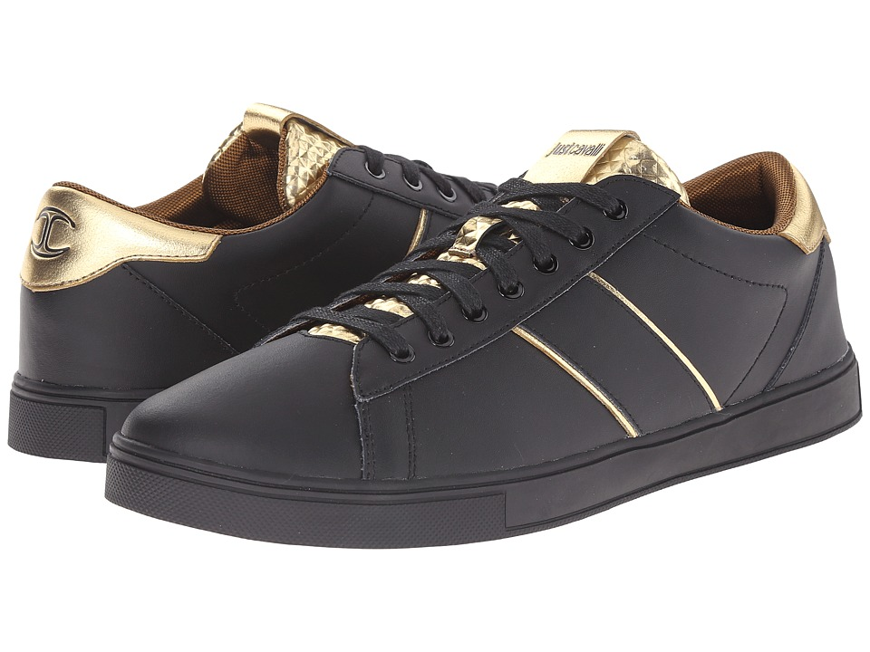 Just Cavalli - Metallic Studded Sneaker (Black) Men's Shoes