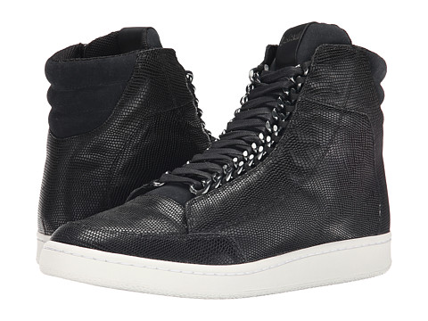 Just Cavalli - Reptile Textured Chain Sneaker (Black) Men's Shoes