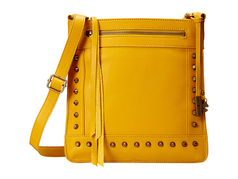 Lucky Brand - Studded North/South Crossbody (Yellow) Cross Body Handbags