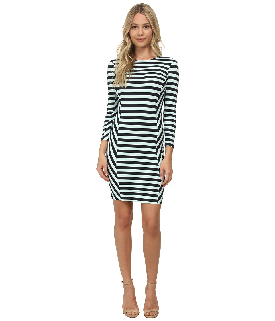 French Connection - Summer Stripe Dress (Nocturnal/Aqua Fresh) Women's Dress