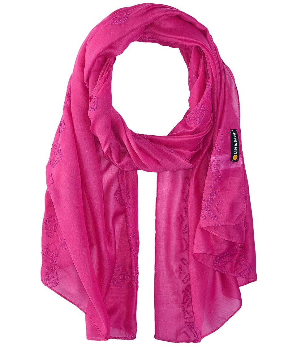 Life is good - Lightweight Scarf (Hot Fuchsia) Scarves