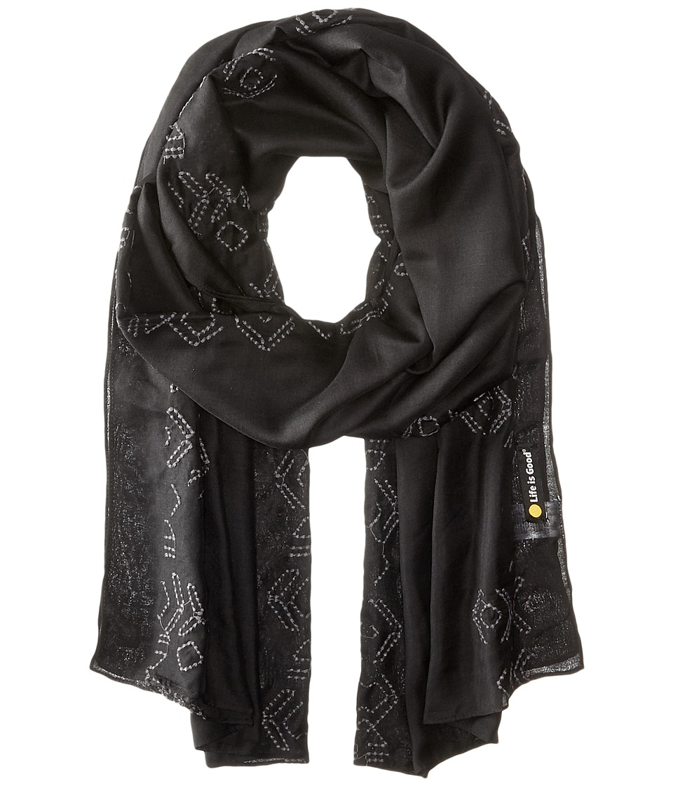 Life is good - Lightweight Scarf (Night Black) Scarves