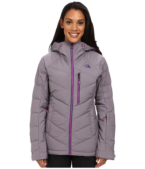 The North Face - Point It Down Hybrid Jacket (Coastal Grey/Garnet Purple) Women's Coat