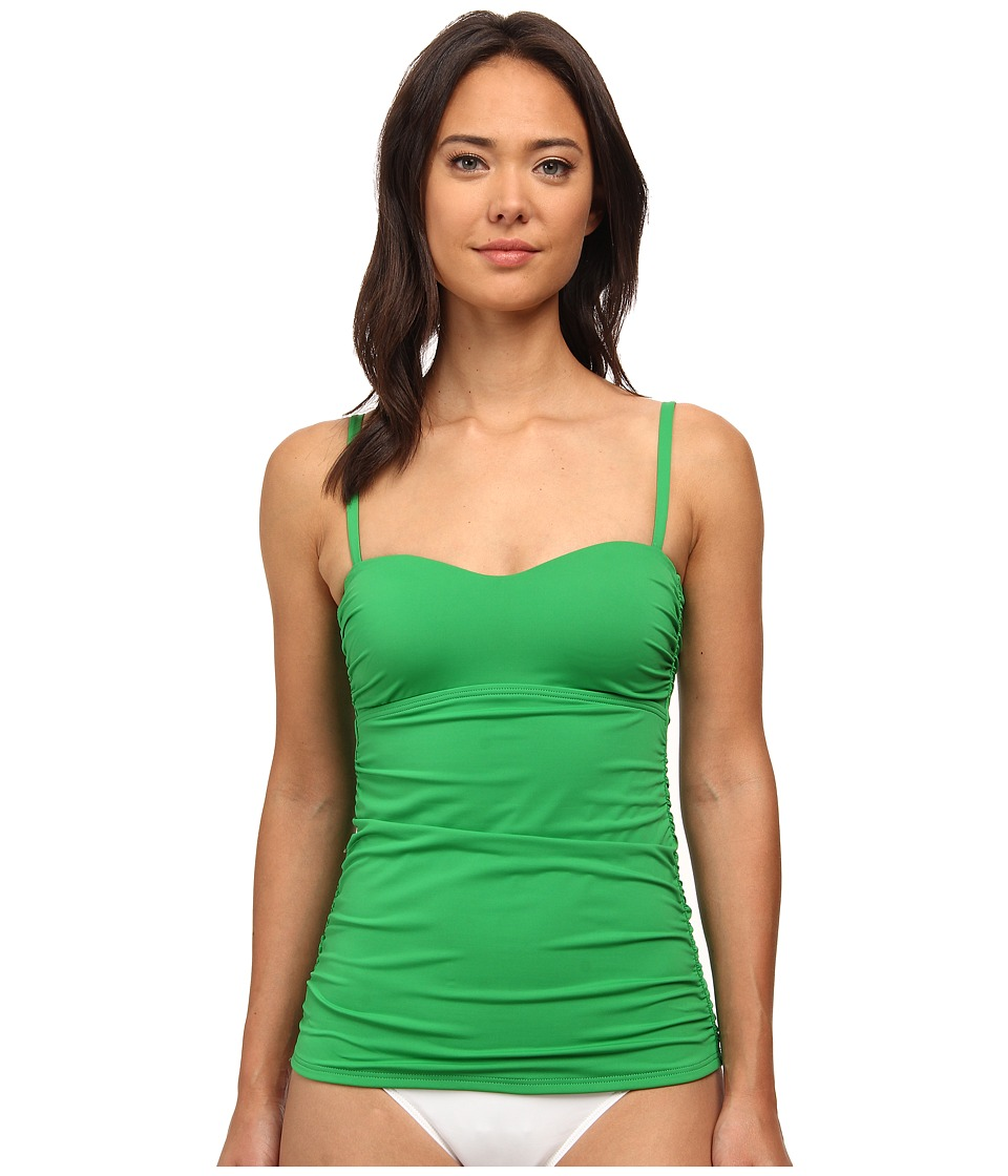 Tommy Bahama - Pearl Over The Shoulder Long Tankini Top (Palm Green) Women