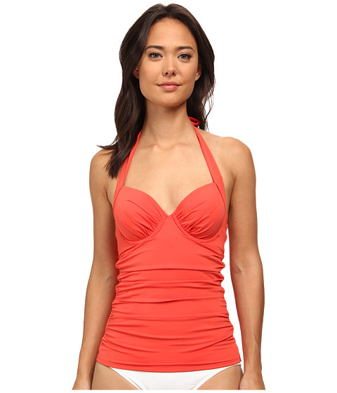 Tommy Bahama - Pearl Underwire Tankini Top (Hot Spice) Women