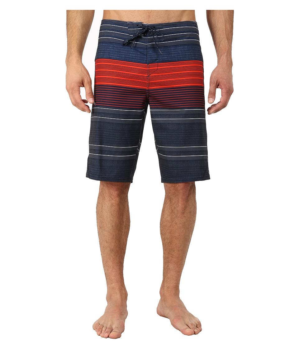 O'Neill - Stripe Freak Boardshorts (Navy) Men's Swimwear