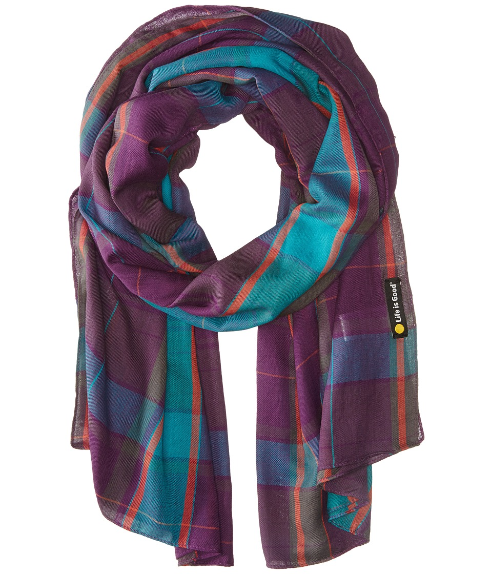 Life is good - Lightweight Scarf (Smoky Plum) Scarves
