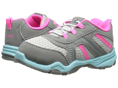 Carters - Dustin-G (Toddler/Little Kid) (Dark Grey/Pink) Girls Shoes
