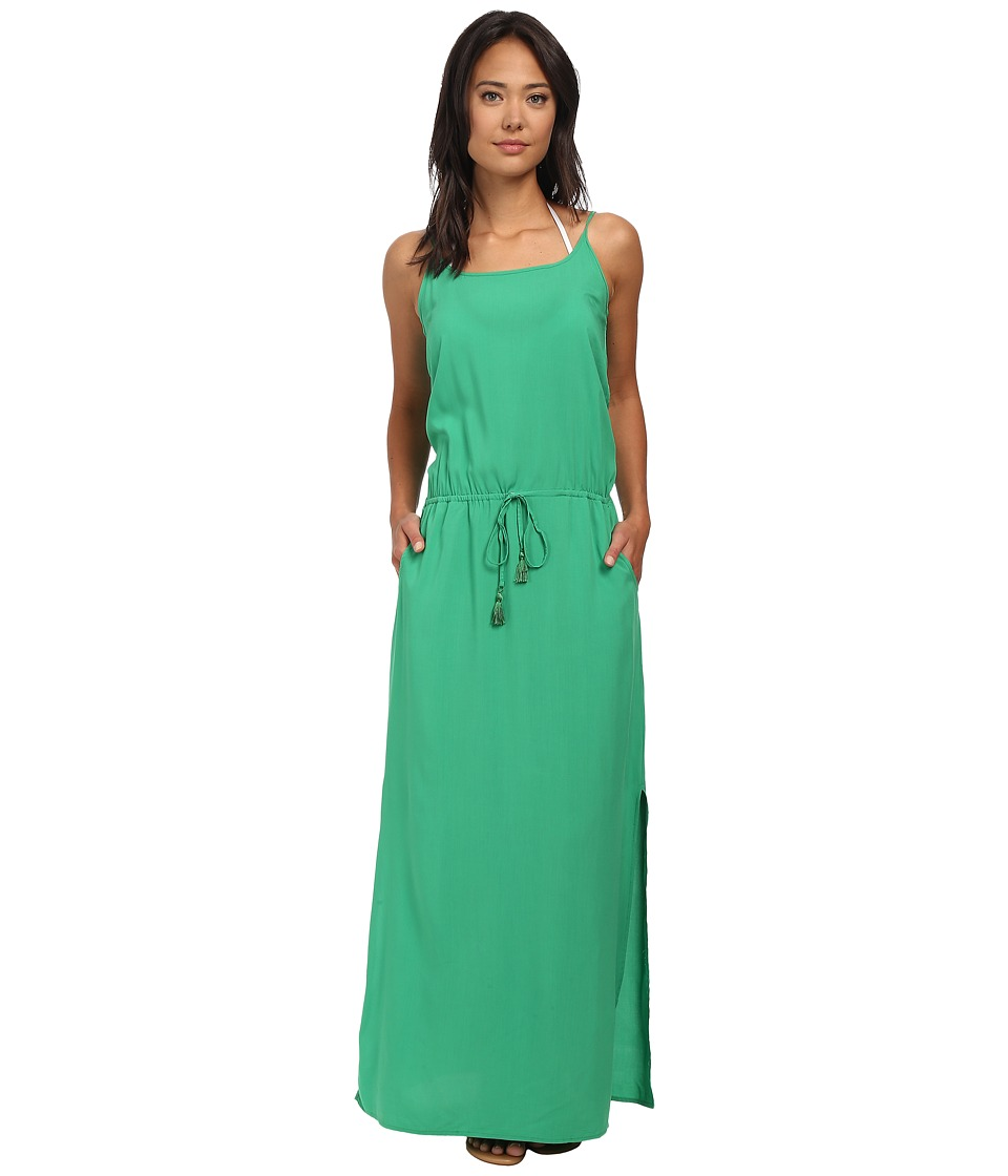 Tommy Bahama - Rayon Maxi Dress w/ Elastic Waist Band Cover-Up (Palm Green) Women's Swimwear