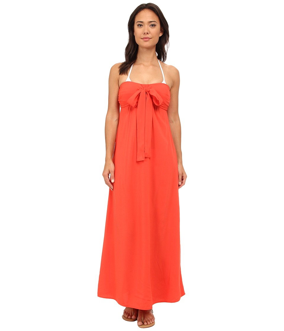 Tommy Bahama - Rayon Bandeau Maxi Dress Cover-Up (Hot Spice) Women's Swimwear
