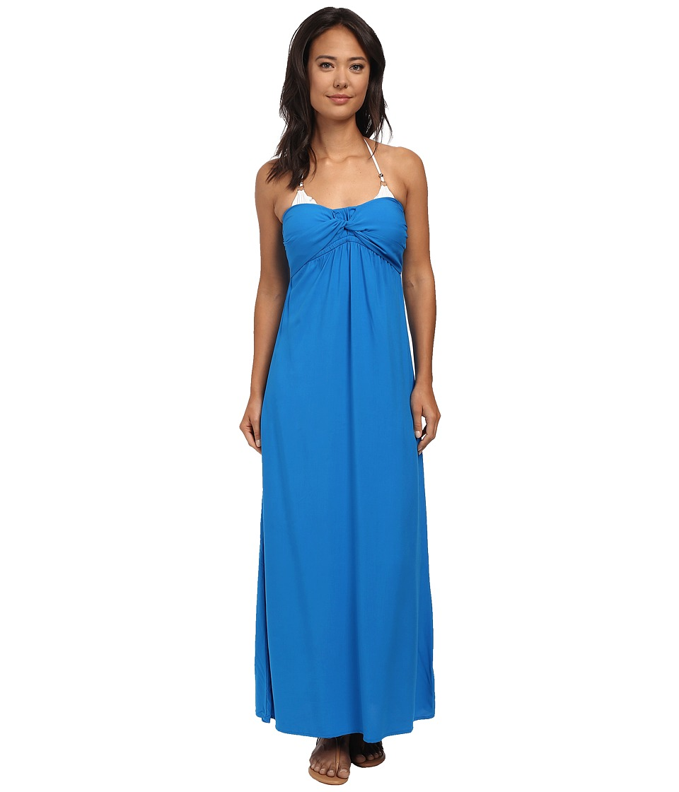 Tommy Bahama - Rayon Bandeau Maxi Dress Cover-Up (Sailor Blue) Women's Swimwear