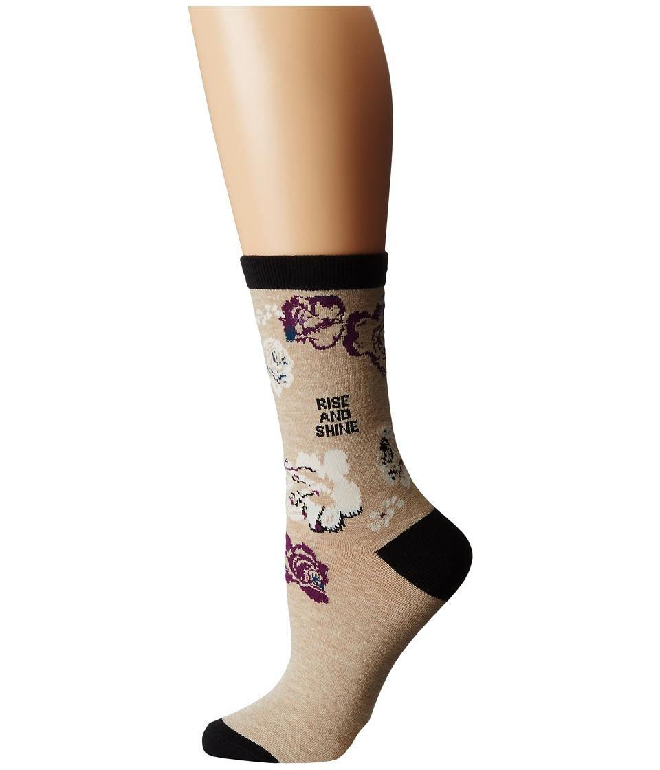Life is good - LIG Crew Socks (Heather Latte) Women