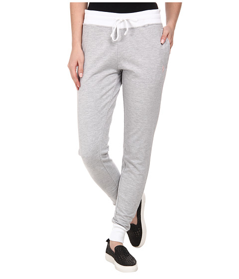 U.S. POLO ASSN. - Katherine Skinny Fit French Terry Pant (Light Grey Heather) Women