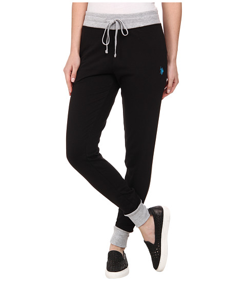 U.S. POLO ASSN. - Katherine Skinny Fit French Terry Pant (Black) Women's Casual Pants