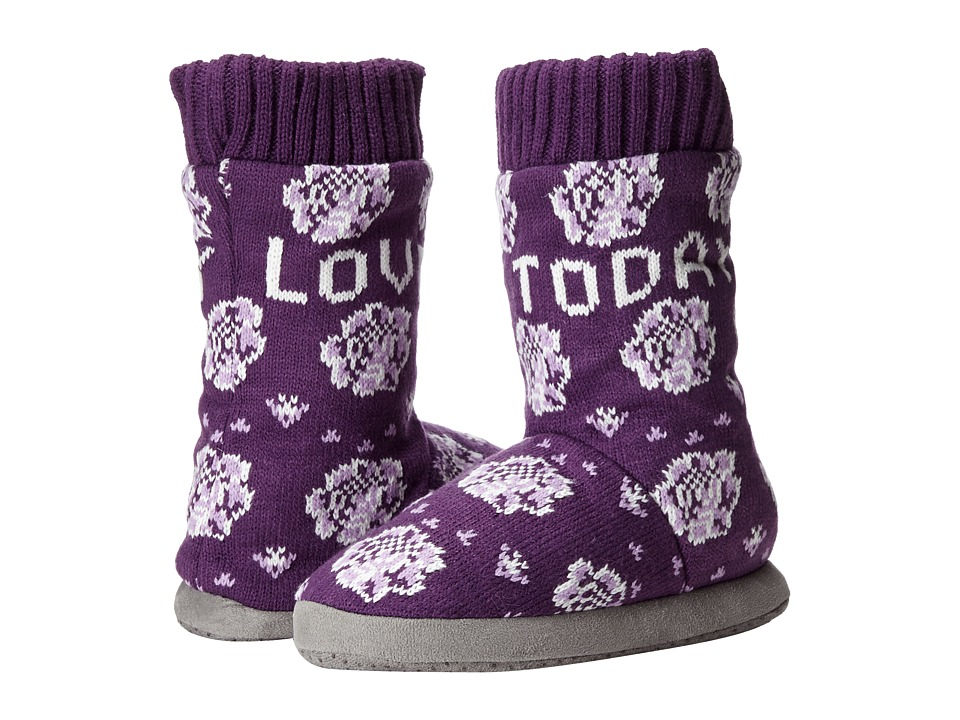 Life is good - Slipper Socks (Smoky Plum) Women