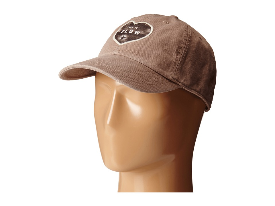 Life is good - Appliqu Chill Cap (Mocha Brown) Baseball Caps