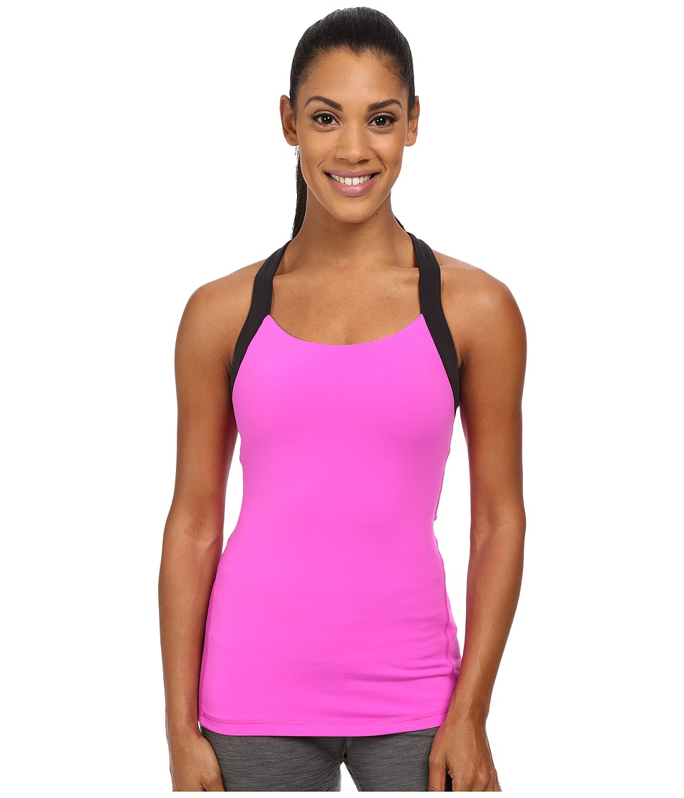 Lucy - Crossback Tank (Pink Dawn) Women's Sleeveless