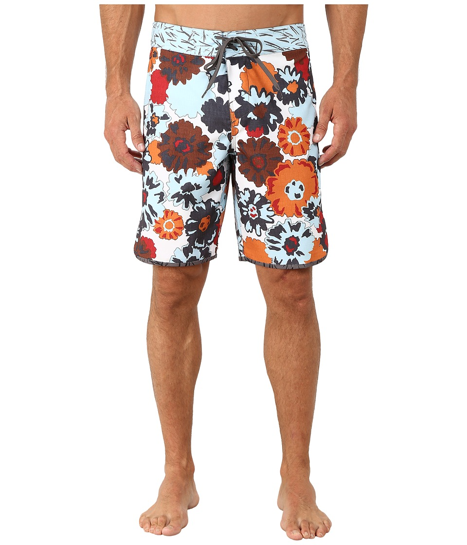 O'Neill - Santa Cruz Scallop Print Boardshorts (White) Men's Swimwear