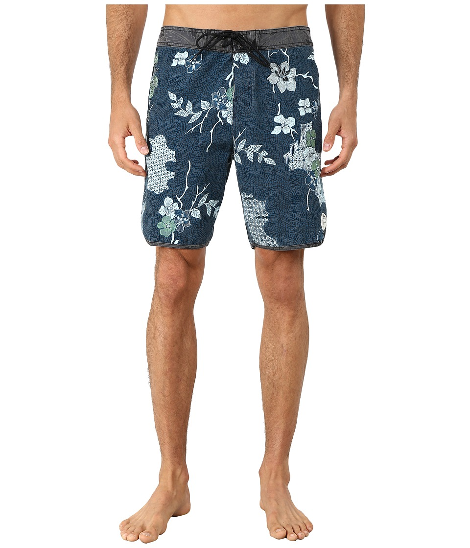 O'Neill - Santa Cruz Original Scallop Print Boardshorts (Black) Men's Swimwear