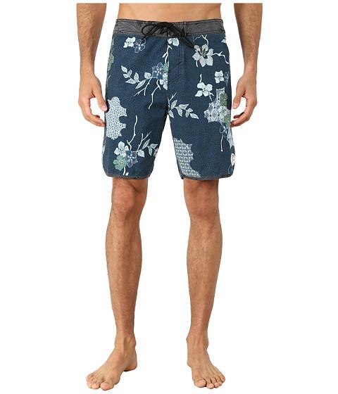 O'Neill - Santa Cruz Original Scallop Print Boardshorts (Black) Men's Swimwear