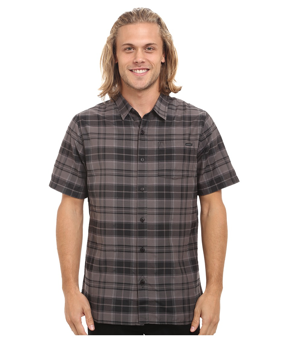 O'Neill - Burns Short Sleeve Shirt (Black) Men's Short Sleeve Button Up