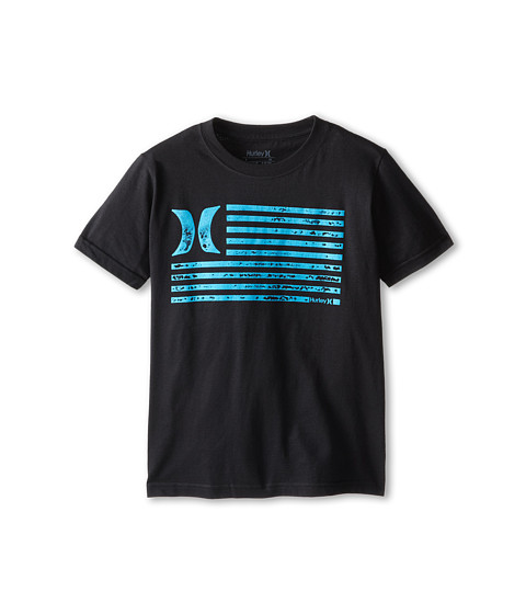 Hurley Kids - Flag Tee (Big Kids) (Black) Boy