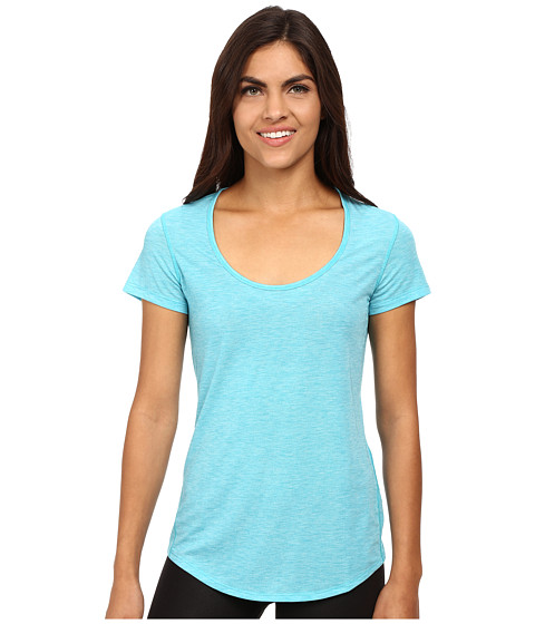Lucy - S/S Workout Tee (Crystal Pond Heather) Women's Workout