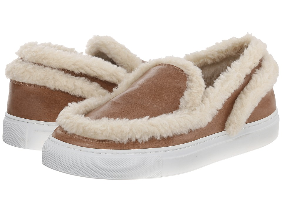 MM6 Maison Margiela - Shearling Trim Sneaker (Taupe/Beige) Women