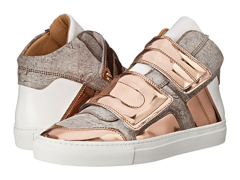 MM6 Maison Margiela - Metallic Two-Band High Top (Taupe/Copper) Women's Hook and Loop Shoes