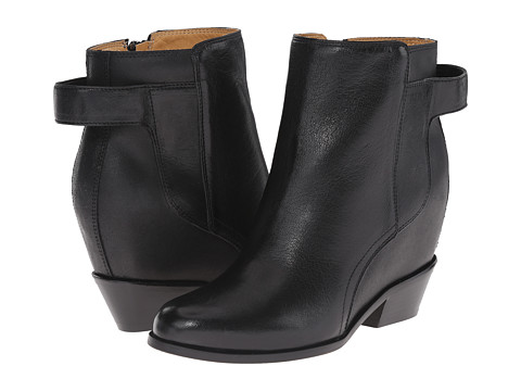 MM6 Maison Margiela - Hidden Wedge Ankle Boot (Black/Black) Women's Zip Boots