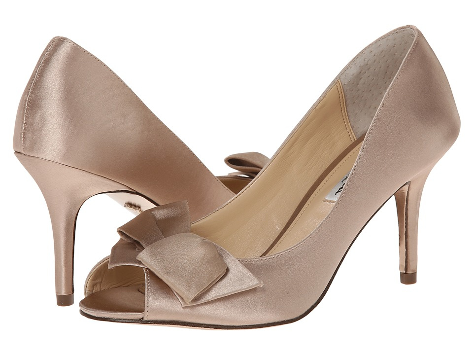 Nina Fraser (Champagne Crystal Satin) High Heels