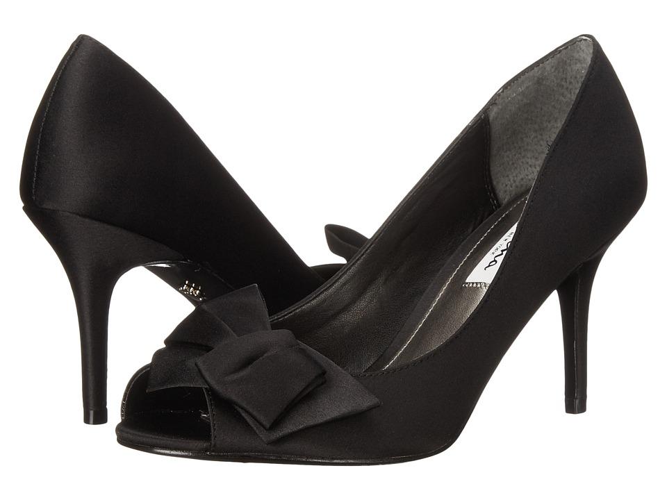 Nina Fraser (Black Luster Satin) High Heels