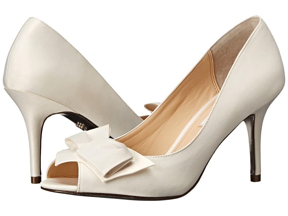 Nina Fraser (Ivory Luster Satin) High Heels