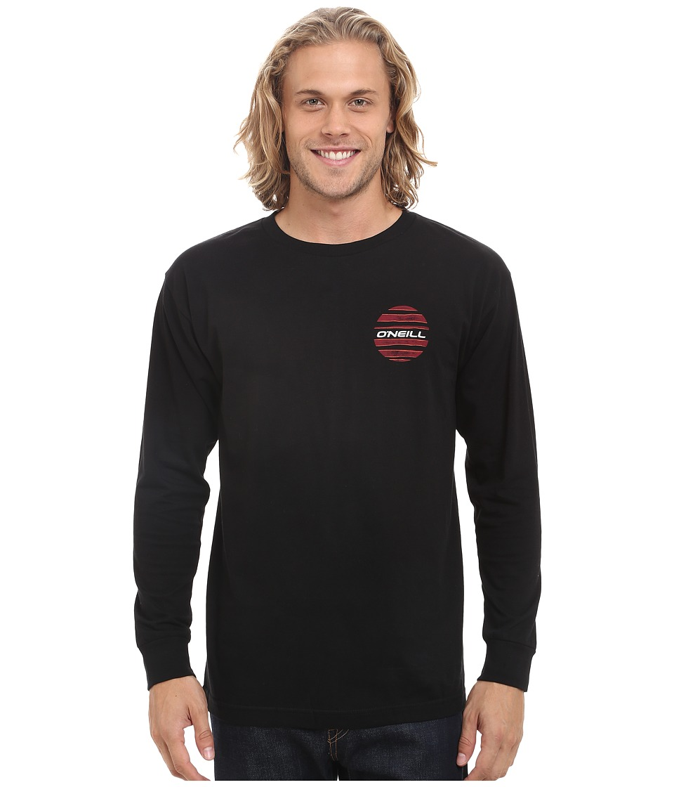 O'Neill - Grudge Long Sleeve Screen Tee (Black) Men's T Shirt
