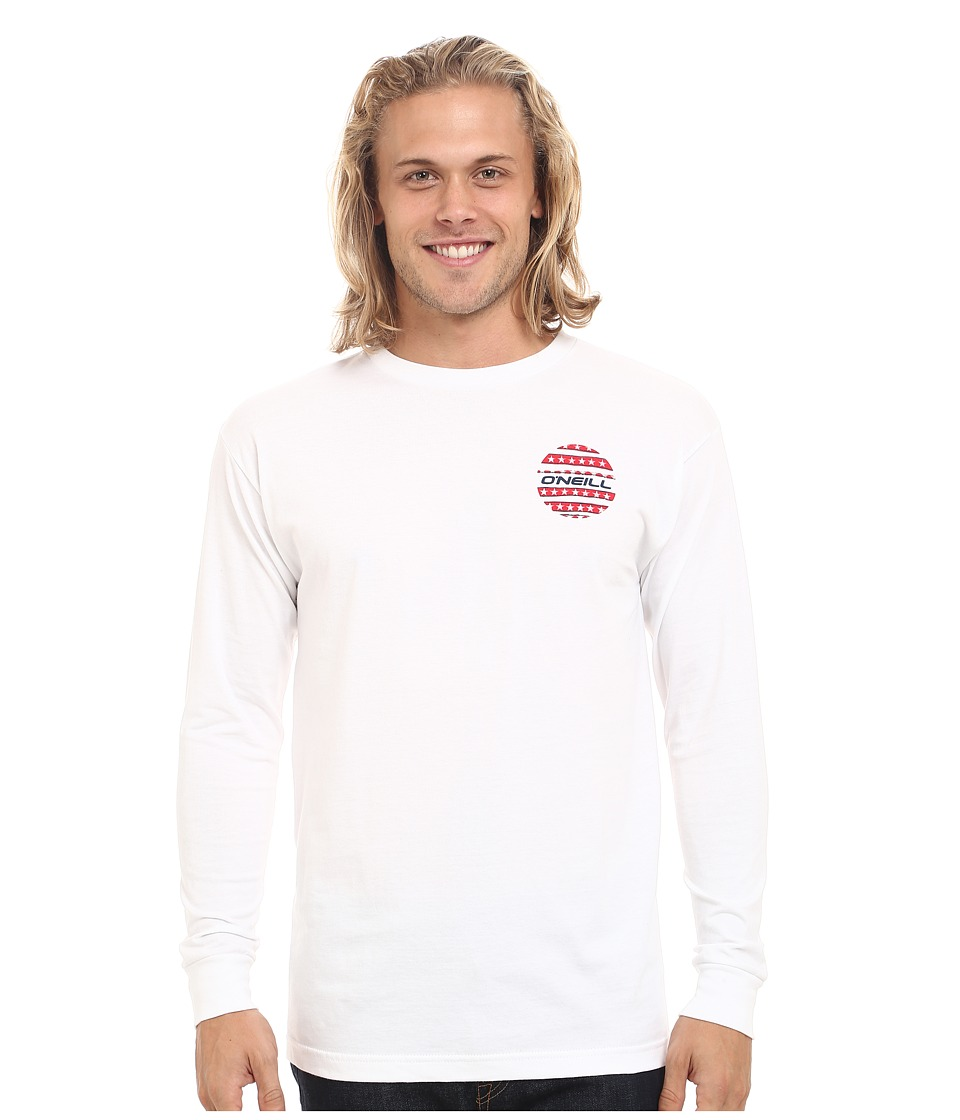 O'Neill - Grudge Long Sleeve Screen Tee (White) Men's T Shirt