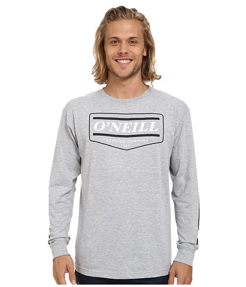 O'Neill - Mover Long Sleeve Screen Tee (Medium Heather Grey) Men's T Shirt