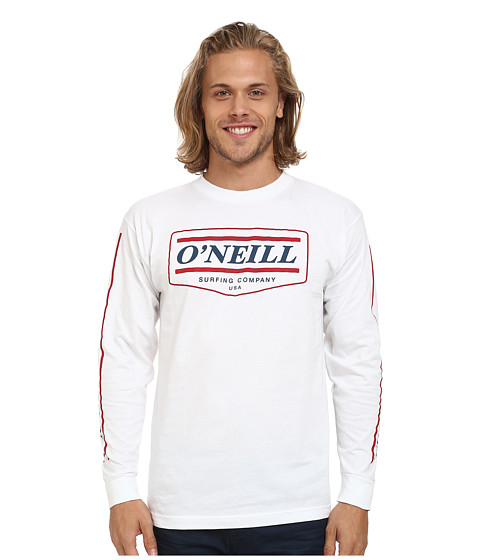 O'Neill - Mover Long Sleeve Screen Tee (White) Men's T Shirt