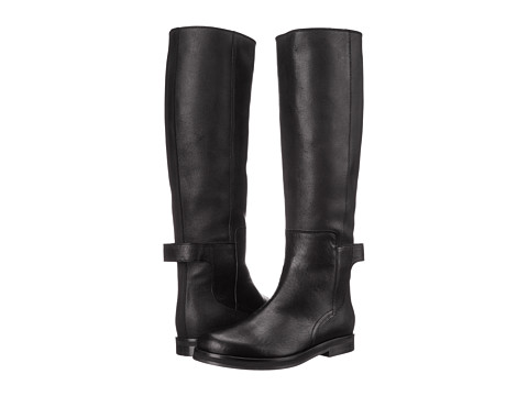 MM6 Maison Margiela - Ankle Strap Tall Boot (Black) Women's Boots