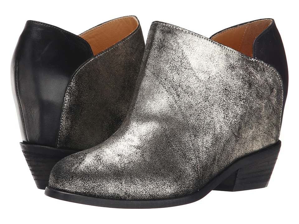 MM6 Maison Margiela Metallic Ankle Bootie (Platinum/Black) Women