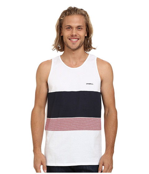 O'Neill - Blocked Screened Tank Top (White) Men's Sleeveless