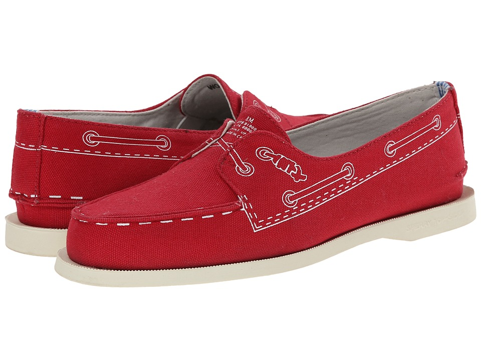 Image of Band of Outsiders - A/O - 2 Eye Doodle (Tomato) Women's Slip on Shoes