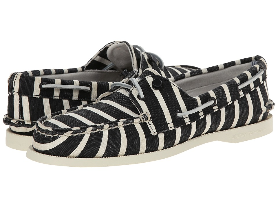Image of Band of Outsiders - A/O - 2 Eye Stripe (Black/White) Women's Slip on Shoes