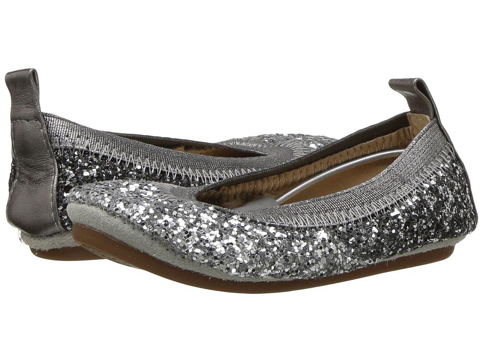 Yosi Samra Kids - Sonya Super Soft Ballet Flat (Toddler/Little Kid/Big Kid) (Oxidized Silver) Girls Shoes