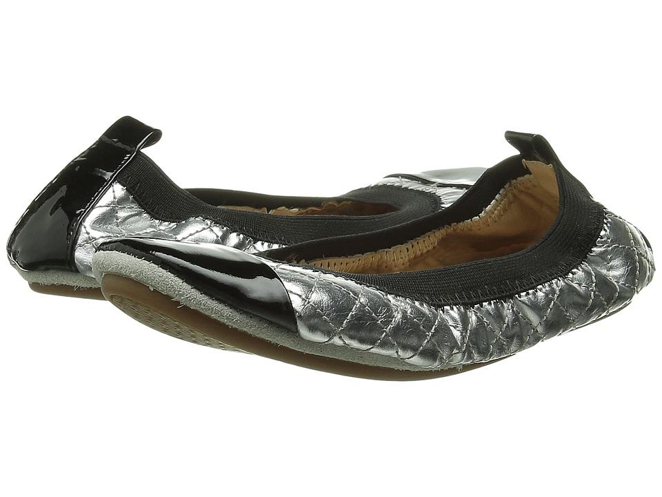 Yosi Samra Kids - Scarlet Super Soft Ballet Flat (Toddler/Little Kid/Big Kid) (Silver/Black) Girls Shoes