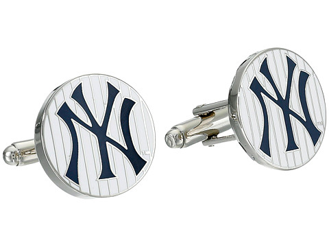 Cufflinks Inc. - New York Yankees Pinstripe Cufflinks (Blue) Cuff Links