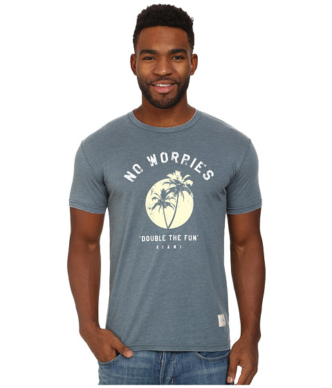 KINETIX - No Worries Premium Tee (Blue/Black Out) Men