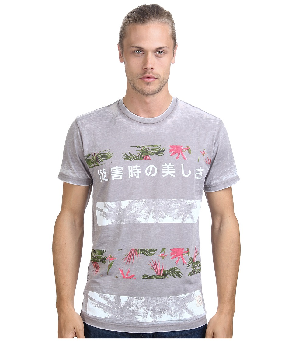 KINETIX - Tropical Kanji Premium Tee (Sand) Men's T Shirt