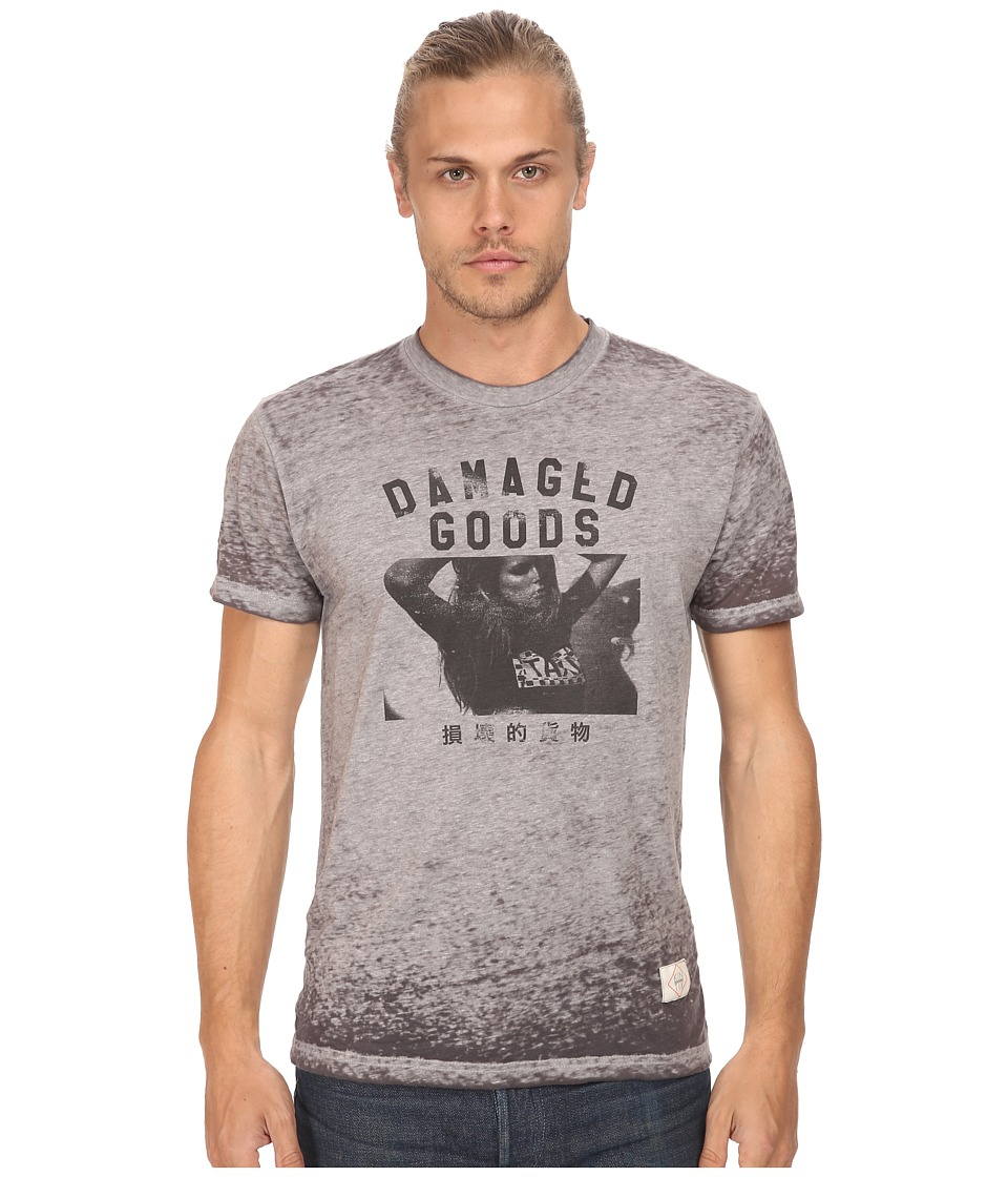 KINETIX - Damaged Goods Premium Tee (Heather Grey) Men's T Shirt